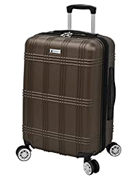 "London Fog Kingsbury 21"" Expandable Hardside Spinner Carry-on, Coffee"