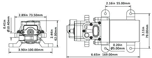 Bombas de presi/ón de agua Seaflo 12/V 1,0/GPM 40/PSI bomba de cebado autom/ático 2/C/ámara Bomba de diafragma de desplazamiento positivo marina RV pulverizaci/ón agr/ícolas