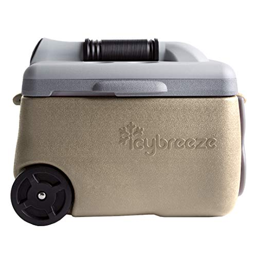 IcyBreeze Cooler Chill Package | No Battery, Direct Power Unit | Ultimate Stationary Package (Tan, 12V Car Charger)