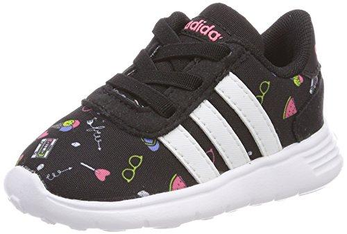 adidas Baby Mädchen Lite Racer Sneaker Schwarz (Core Black/Footwear White/Chalk Pink)