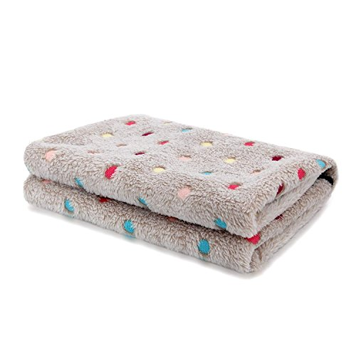 PAWZ Road Pet Dog Blanket Fleece Fabric Soft and Cute Grey S