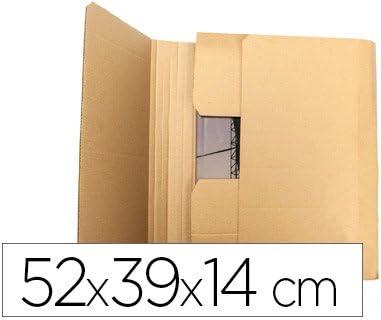 Caja para embalar libro medidas 520x390x140 mm espesor carton 3 mm (5 Unidades): Amazon.es: Oficina y papelería