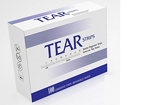 Flow Test - 100 Diagnostic Schirmer Tear Strips Graduated Strips Individually Packed