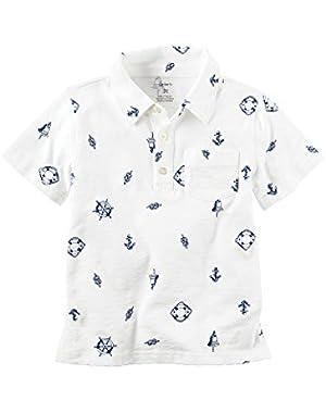 Carter's Baby Boys Printed Polo Shirt