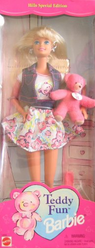 Teddy Fun BARBIE Doll w Teddy Bear - Hills Special Edition (1996) (Bear Silver Teddy Tone)