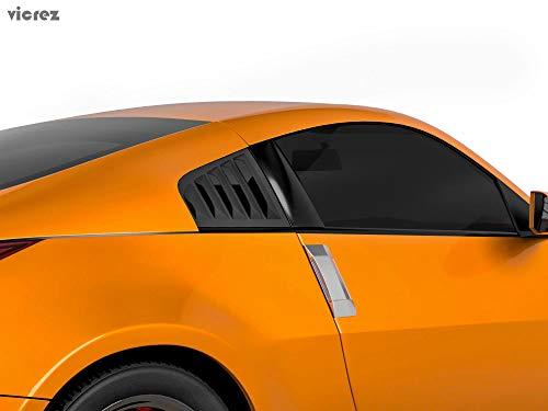 Vicrez LV Style Quarter Window Louvers vz101059 for Nissan 350z 2003-2008 ()