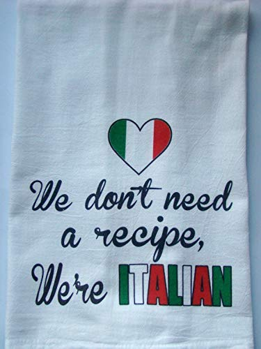 Italian tea towel Handmade printed kitchen floursack towel ()