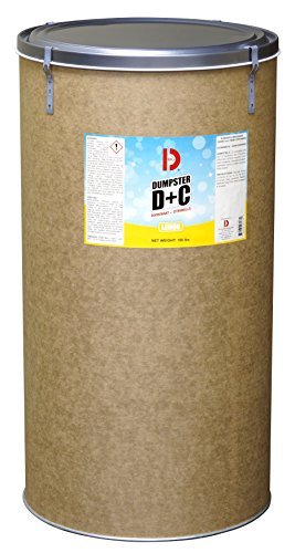 Big D 3178 Dumpster D+C Deodorant + Citronella, Lemon Fragrance, 100 lb Container - Repels flies and insects - Ideal for use in garbage dumpsters, trash cans, containers, compactors and trucks