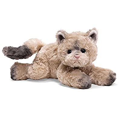 BOOTSIE The TAN/Grey CAT by Gund,Plush Toy: Toys & Games