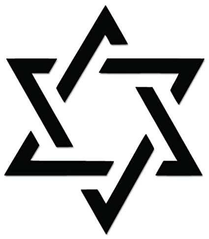 Amazon Star Of David Jewish Sign Symbol Vinyl Decal Sticker For