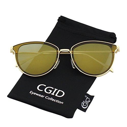 CGID MJ85 Rétro Polarisé Des lunettes de soleil Double Cercle Miroir UV400 Lentille Métal Cadre H2ZSTZKPy