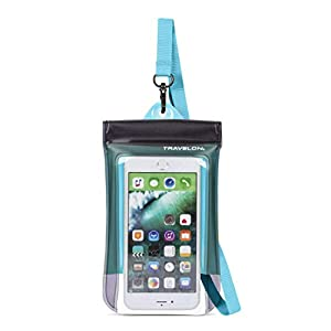 Travelon Floating Waterproof Smart Phone/Digital Camera Pouch, Blue
