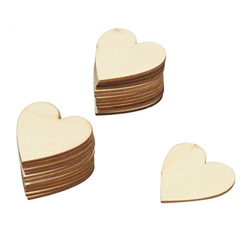eDealMax en Forma 25pcs de la suspensin de la decoracin DIY de manualidades boda de Madera del corazn Love Party