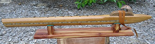 Native American Flute - Deep Low B - Solid Narra Wood - Hand Made - With Flute Stand
