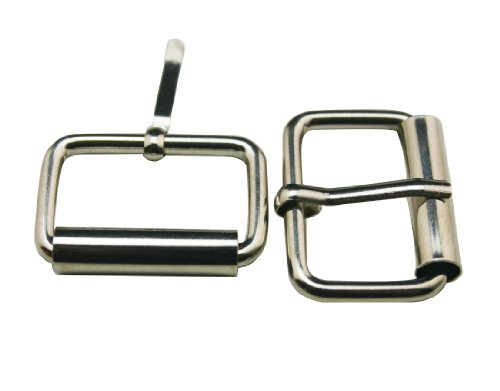 [Generic Metal Silvery 1 Inch Inside Length Rectangle Buckle belt Buckle Handbag Buckle Luggage Accessories(Pack of 15)] (Hand Belt Buckle)