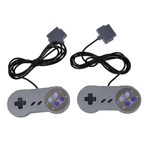 TOOGOO(R) Replacement Controllers for Super Nintendo SNES Pack of 2