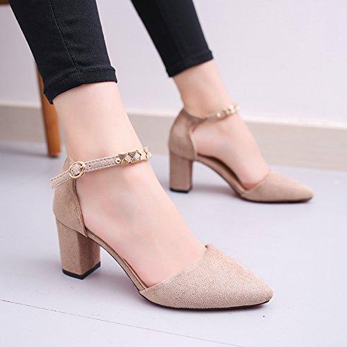 La mujer de verano pies zapatos planos sandalias de fondo 39 de polvo de perlas Beige