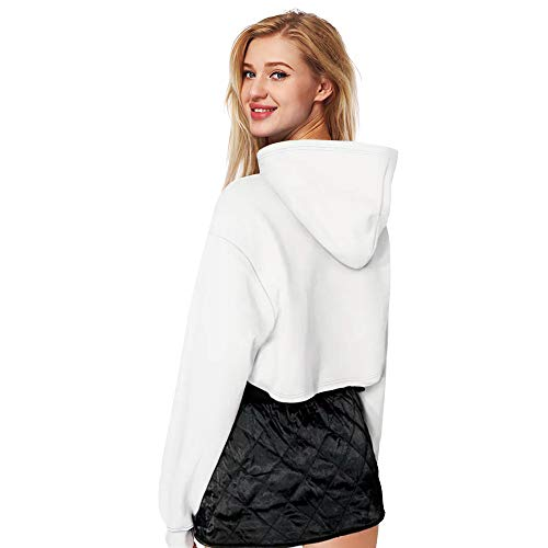 Hoodies White Long Women Top Sleeve Mode Print 3d Casual Shirts Short Couples Blouse F67q0gOw
