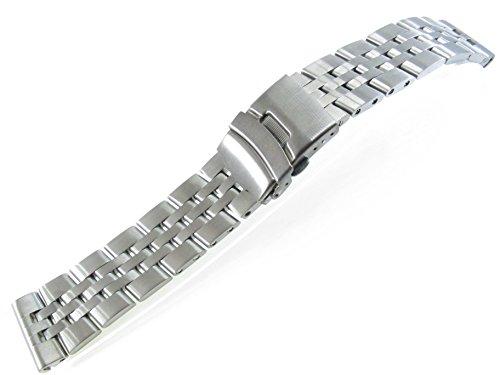 JRRS7777 24mm Stainless Steel 5 Row Watch Bracelet Titanium Men's MB2020T ()