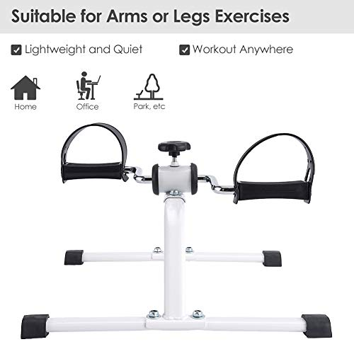Synteam Compact Pedal Exerciser Under Desk Low Impact Bike Exercise Machine for Arms Legs by Synteam (Image #1)
