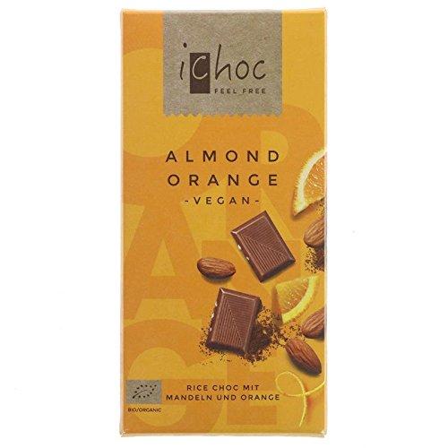 Vivani Organic Chocolate | Almond & Orange | 2 x 10 x 80g