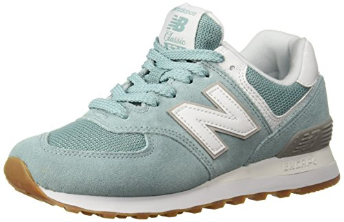 New Balance Womens 574 Core Sneaker, Storm Blue/White, 6 W US