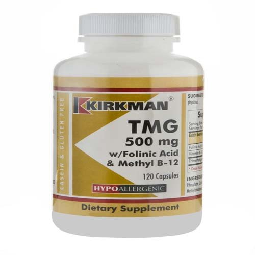 Kirkman - TMG 500mg with folinic acid methyl-B12 - 120capsules