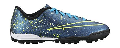 Nike Jr Mercurial Vortex Ii Tf, Zapatillas de Deporte para Niñas Azul / Negro / Verde (Squadron Blue / Sqdrn Bl-Blk-Vlt)