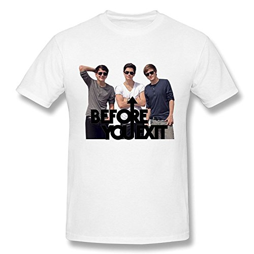 PASSIONC Men's Pop Band Before You Exit T-shirt White -