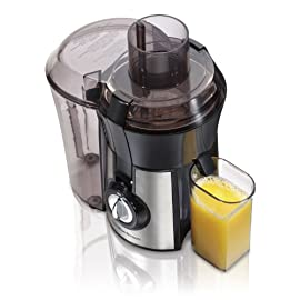 Hamilton Beach Juice Extractor, 2- Speed Big Mouth, Black (67750) 39 HEALTHY, HOMEMADE JUICE IN SECONDS. Juice a variety of fruits and vegetables. Juicer is easy to assemble with extra-large pulp bin. 3-YEAR LIMITED WARRANTY FROM THE BEST SELLING JUICE EXTRACTOR BRAND*. Includes access to US-based customer support. EASY TO CLEAN. Removable parts are dishwasher-safe and BPA-free.