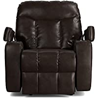 ProLounger Wall Hugger Storage Recliner Renu Leather Power Chair, Coffee Brown