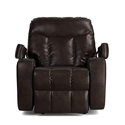 ProLounger Wall Hugger Storage Recliner Renu Leather Power Chair, Coffee (Renu Leather Coffee)