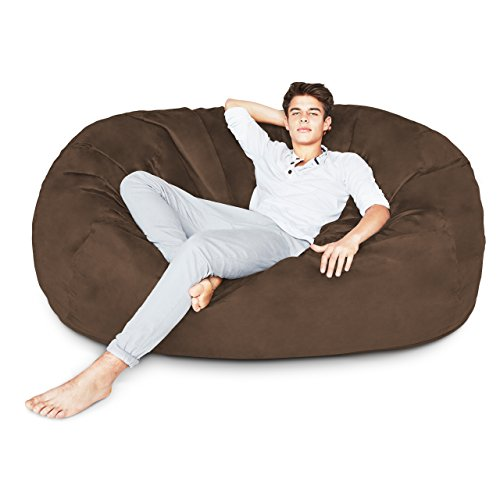 Lumaland Luxury 6-Foot Bean Bag Chair with