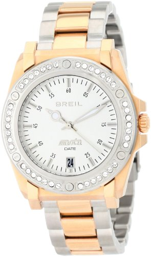 Breil Milano Women's TW0848 Manta Ion-Plating Swarovski Crystal Bezel Rose Gold Watch