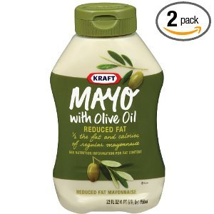 Kraft Mayonnaise With Olive Oil Squeeze Bottles 22 OZ (Pack of 24) by Kraft
