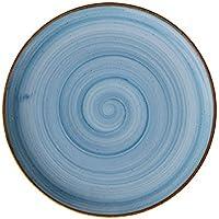 Corona Llano Coupe Artisan Plato, Porcelana, Azul, 17
