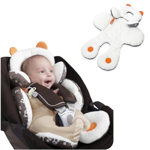 UNAKIM--Newborn Baby Car Seat Stroller Cushion Pad Liner Mat Head Body Support - Denver Shopping Near