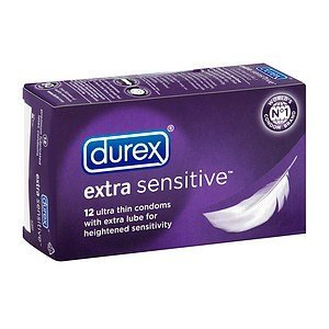 Durex Lubricated Latex Condoms, Extra Sensitive 12 ct