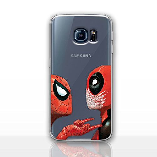 Galaxy S7 Deadpool Silicone Phone Case/Gel Cover for Samsung Galaxy S 7 (S7/G930) / Screen Protector & Cloth/iCHOOSE / Deadpool & Spiderman]()