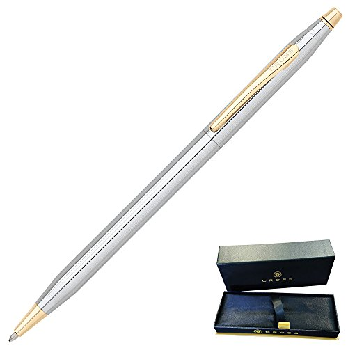 Dayspring Pens | Engraved/Personalized Cross Classic Century Medalist Ballpoint Pen, Chrome and 23 Karat Gold Plated Trim 3302. Custom Engraved Fast 1 day engraving time. by Dayspring Pens (Image #2)