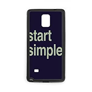Start Simple Design Unique Customized Hard Case Cover for Samsung Galaxy Note 4, Start Simple Galaxy Note 4 Cover Case