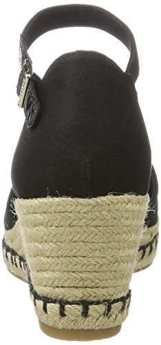 Tommy Hilfiger E1285lba 32d, Sandalias con Cuña para Mujer Negro (Black 990)