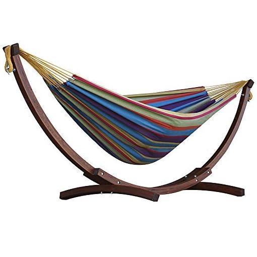 Garden and Outdoor Vivere C8SPCT-20 Solid Combo Wood Hammock, Tropical hammocks