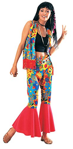 Women's Flower Power 60's Hippie Adult Costume Standard (60's Flower Power Costume)