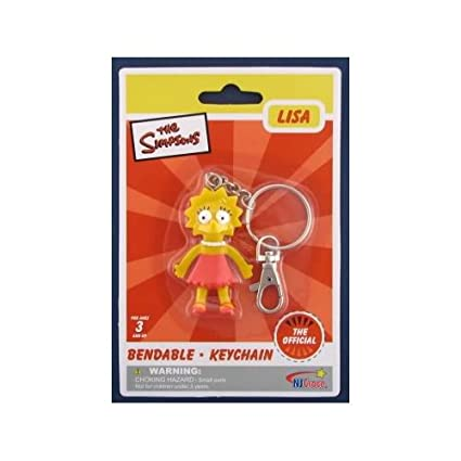 Amazon.com: Los Simpson lisa Simpson Bendable Llavero ...