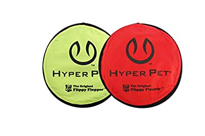 Hyper Pet Flippy Flopper Dog Frisbee Interactive Dog Toys Pack of 2