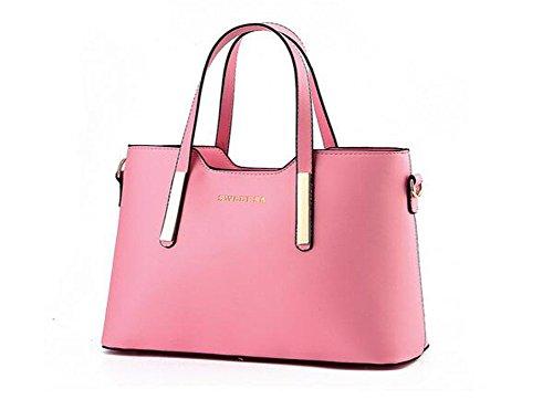 Winter QCKJ Fashion-Borsa a tracolla da donna in stile europeo, in borsetta, colore: rosa