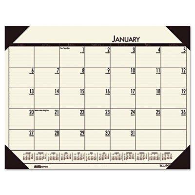 House of Doolittle EcoTONES Monthly Desk Pad Calendar, 4-Corner Holder, 22