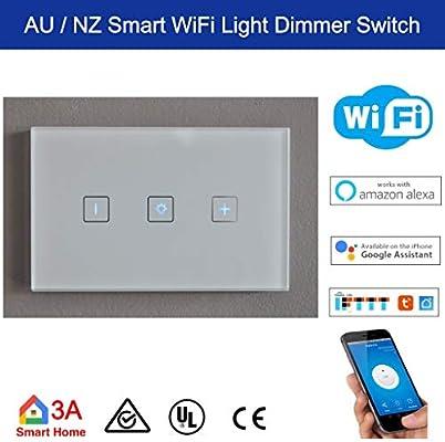 Smart WiFi 3 Gang AU/NZ Standard Light Switch for Wireless Home Automation  Google Home Amazon Echo Dot Echo Plus Alexa Voice Lighting Control