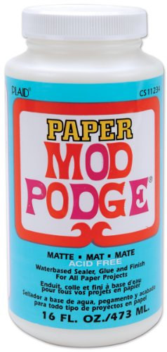 Mod Podge Waterbase Sealer, Glue and Finish for Paper (16-Ounce), CS11234 Matte Finish]()